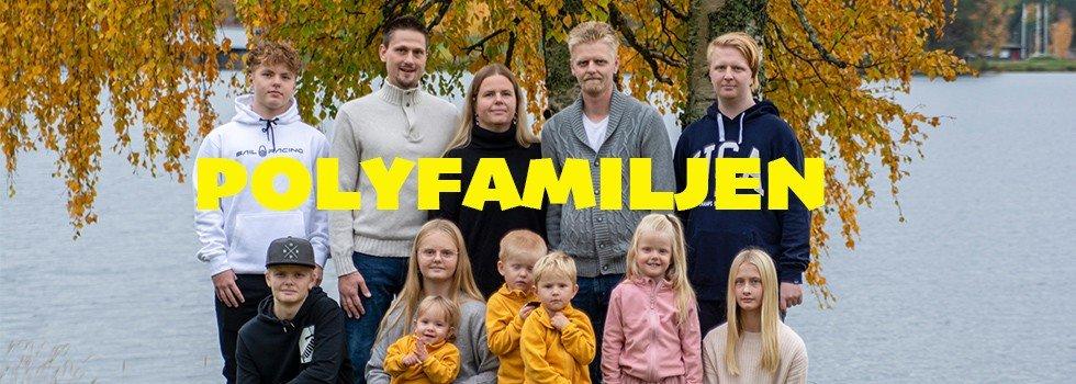 Polyfamiljen -3 vuxna och 9 barn