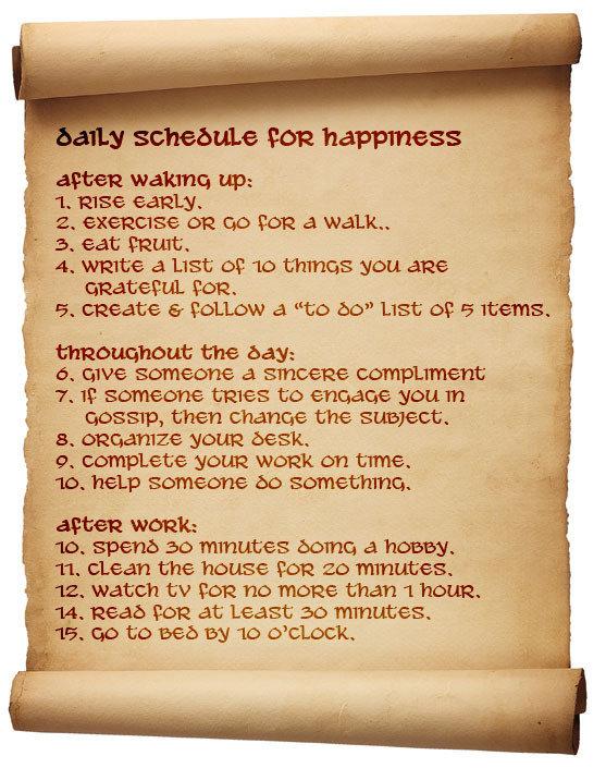 happiness-schedule