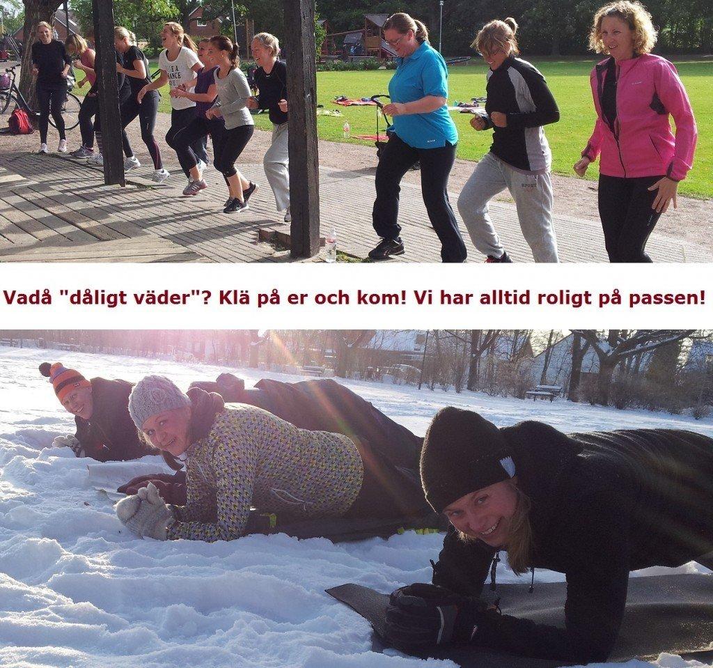 träna i alla väder