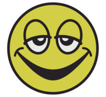 gladtrött smiley