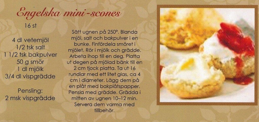 recept scones