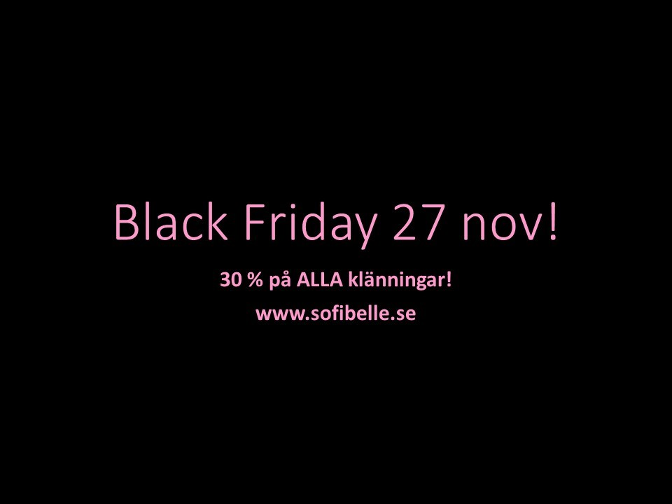 Black Friday 27 nov!
