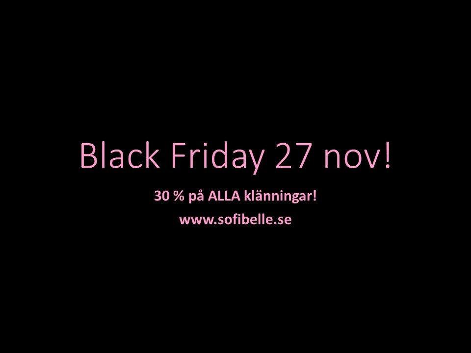 Black Friday 27 nov!