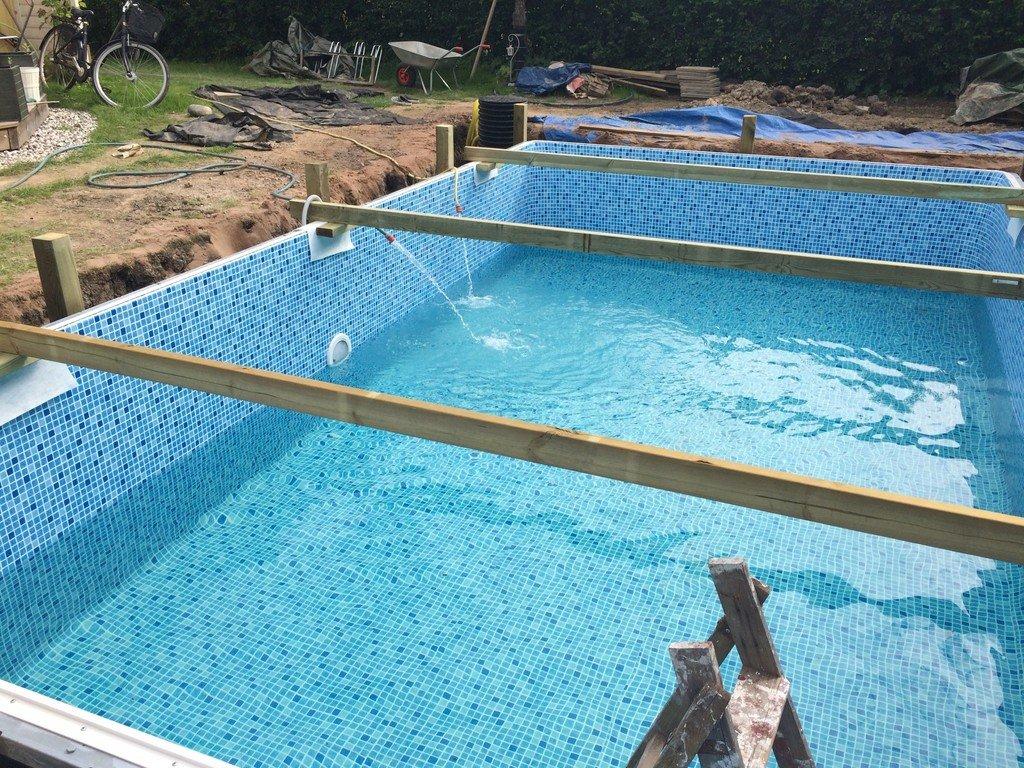 fylla på pool