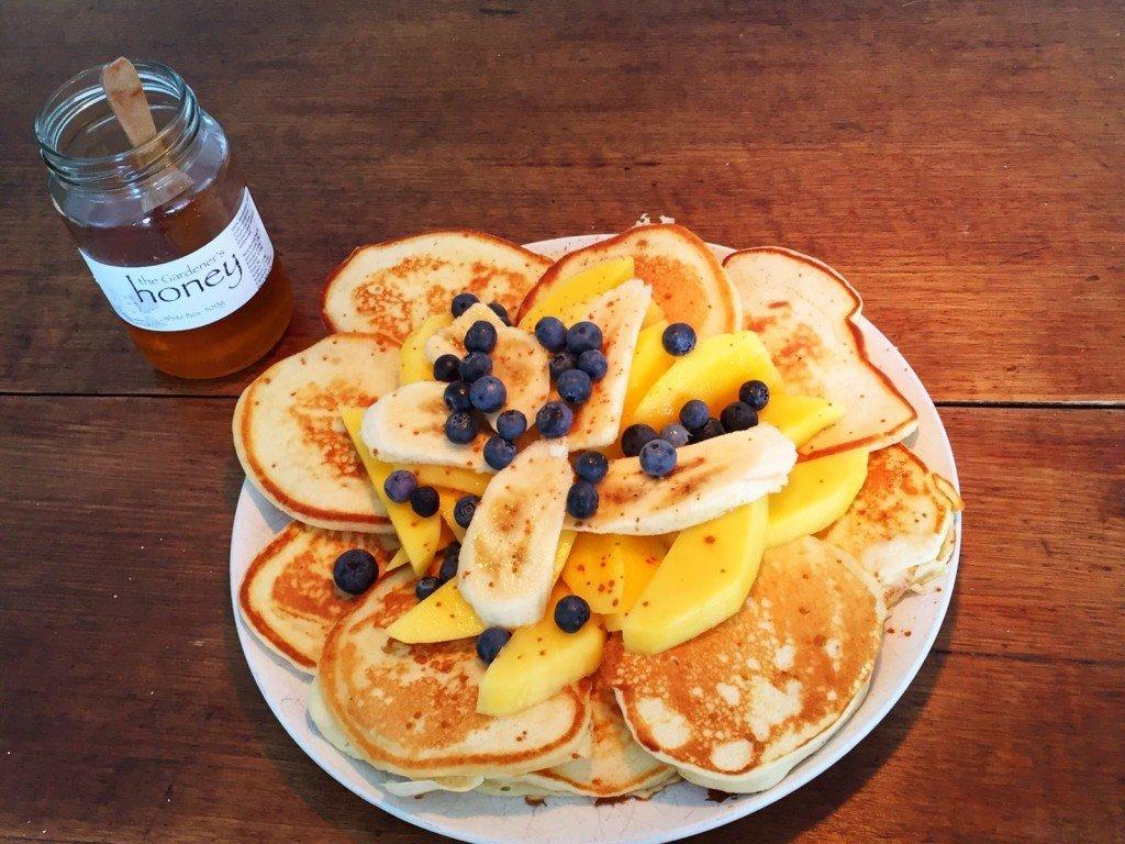 Butternut pancakes till frukost- yummy!