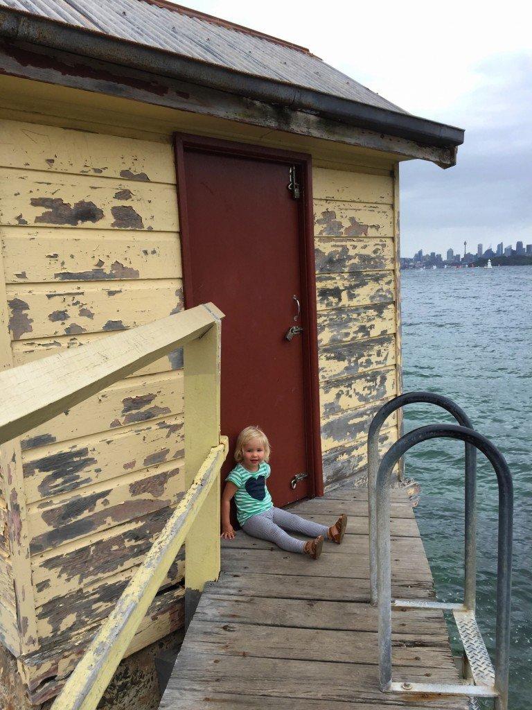 En härlig dag trots regn och rusk. Watson's Bay.