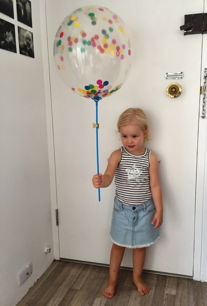 Denna fantastiska ballong hade vi med till bebisen.