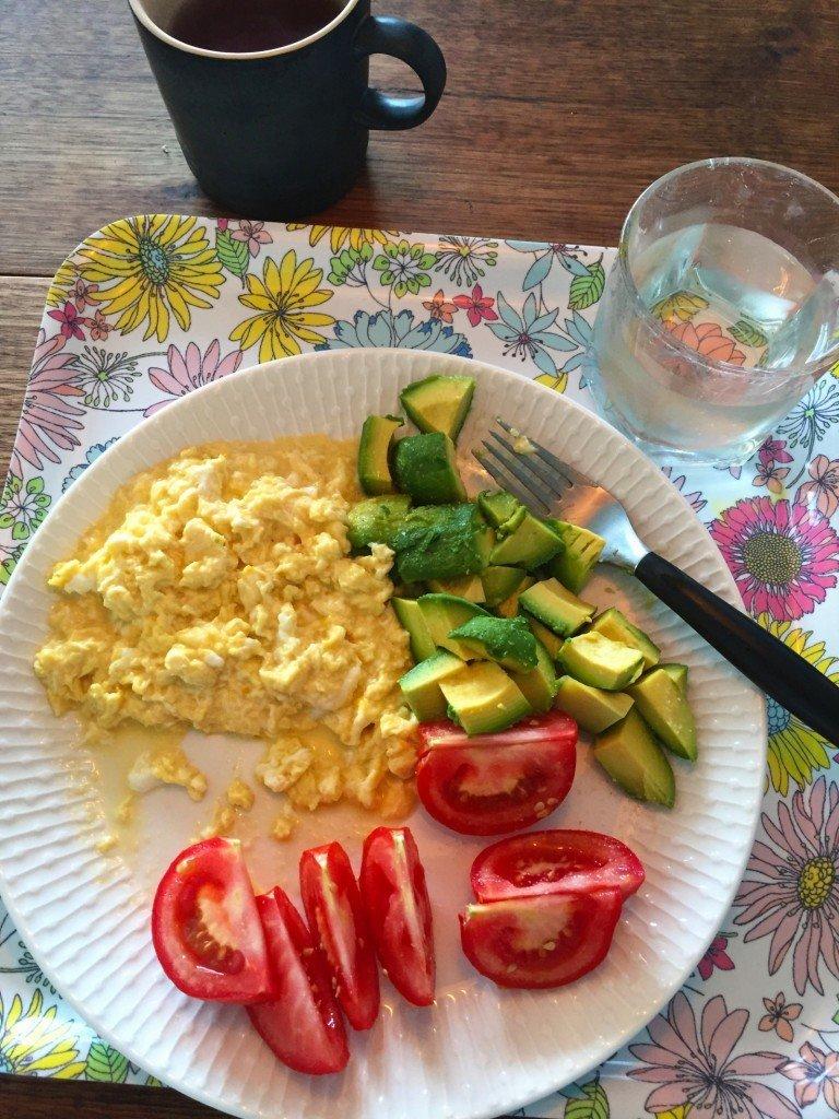 Snabb frukost. Inte så vacker, men god!