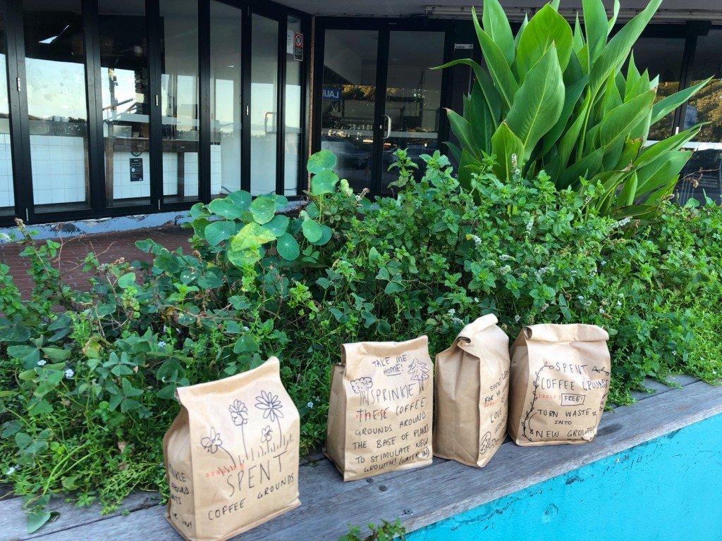 Gammal kaffesump som man fick ta gratis till sina växter.