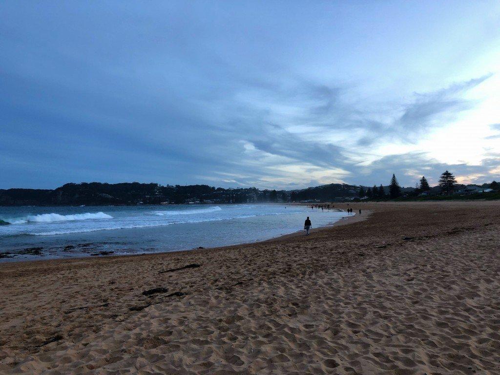 Härligt på stranden ikväll.