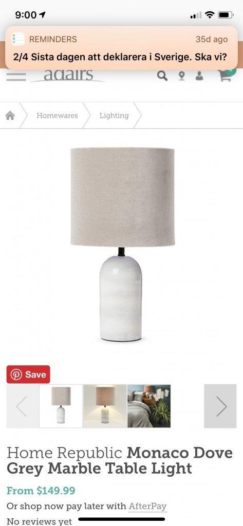 Dessa lamporna hade varit fina på våra nattduksbord.