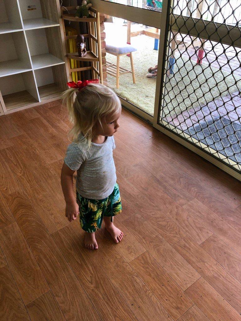 Min lilla pojk hade fått en fintofs idag på daycare.