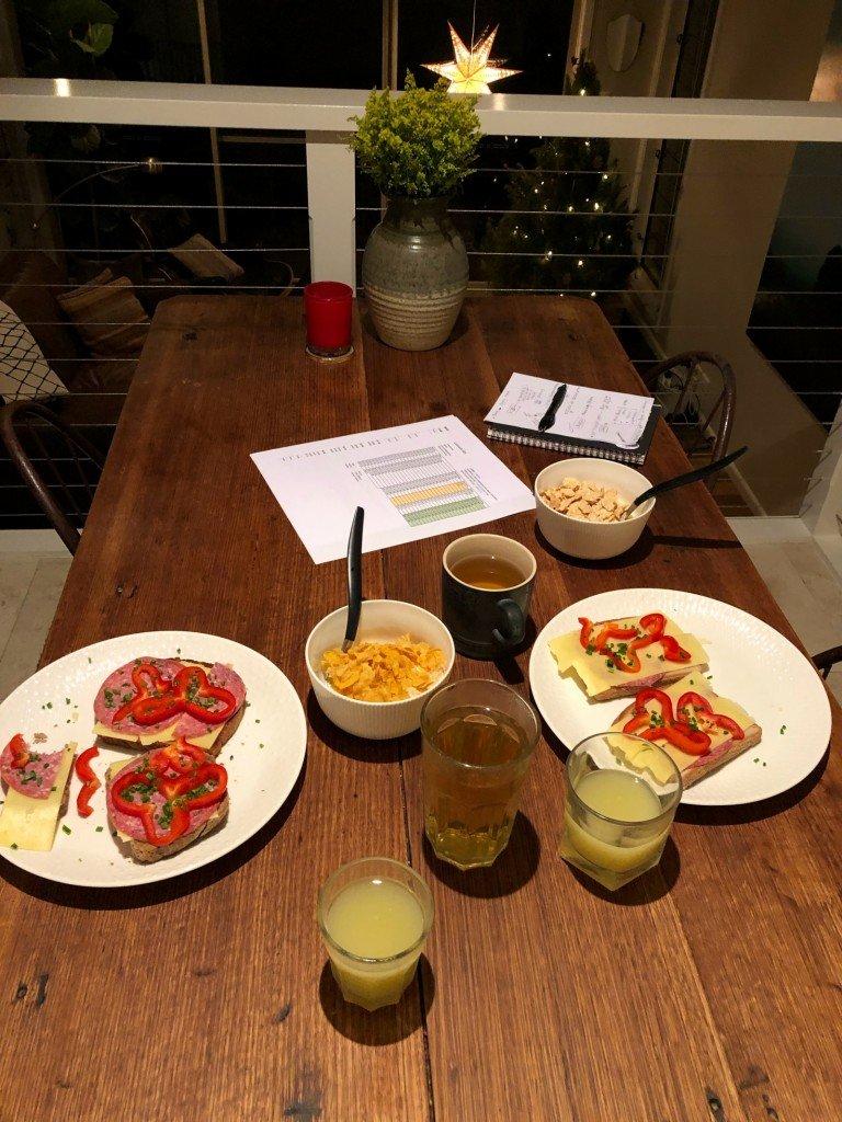 Ikväll åt vi frukost till middag och pratade huslån och framtid. De bästa kvällarna.