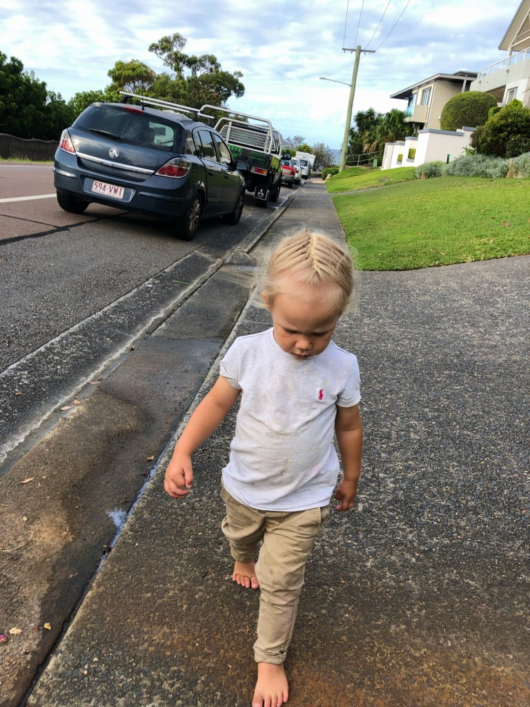 Många promenader för att lämna och hämta ungar idag.
