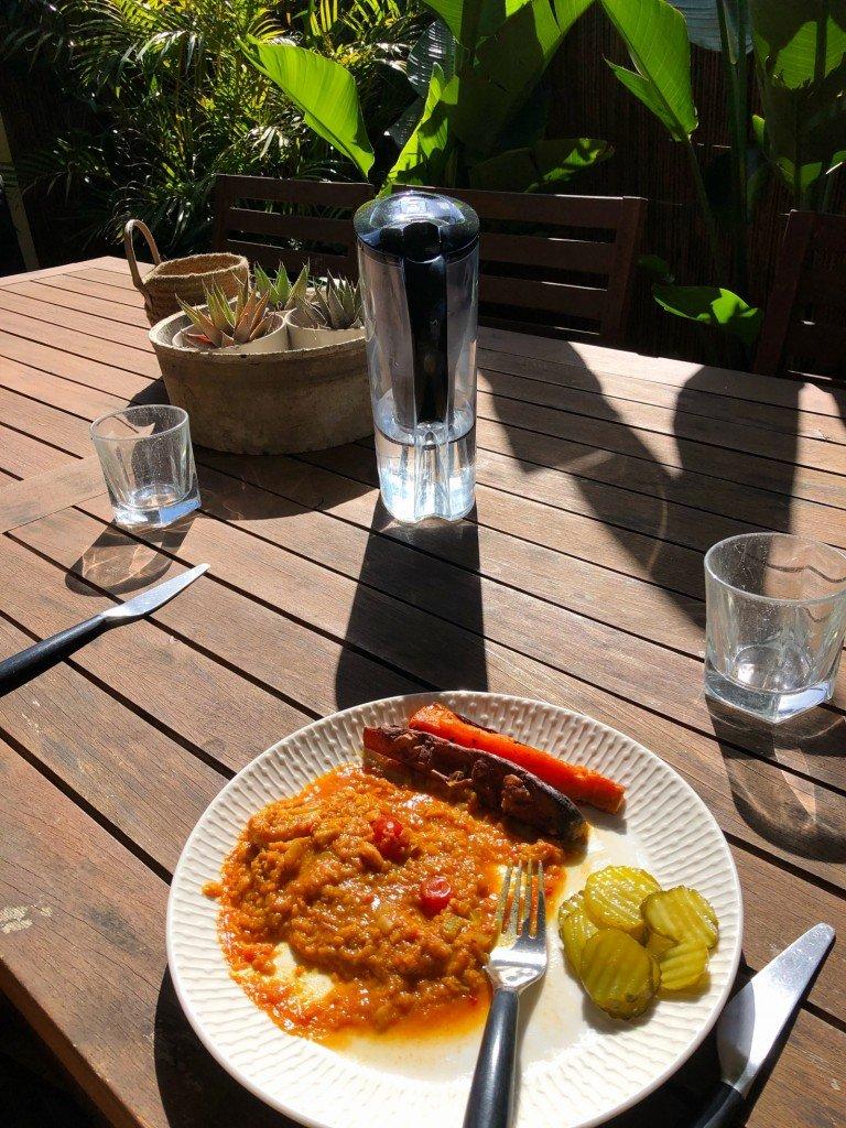 Lunch och utsikt.