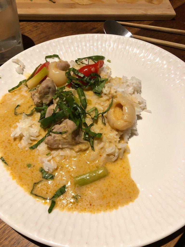 T's red curry chicken är så sjukt god!