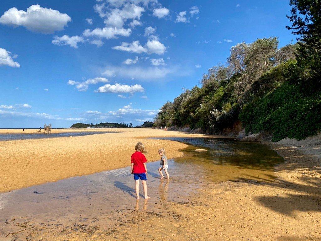 T tog ungarna till stranden efter jobbet. Jag hade inte hunnit hem så jag gick miste om det, tyvärr.