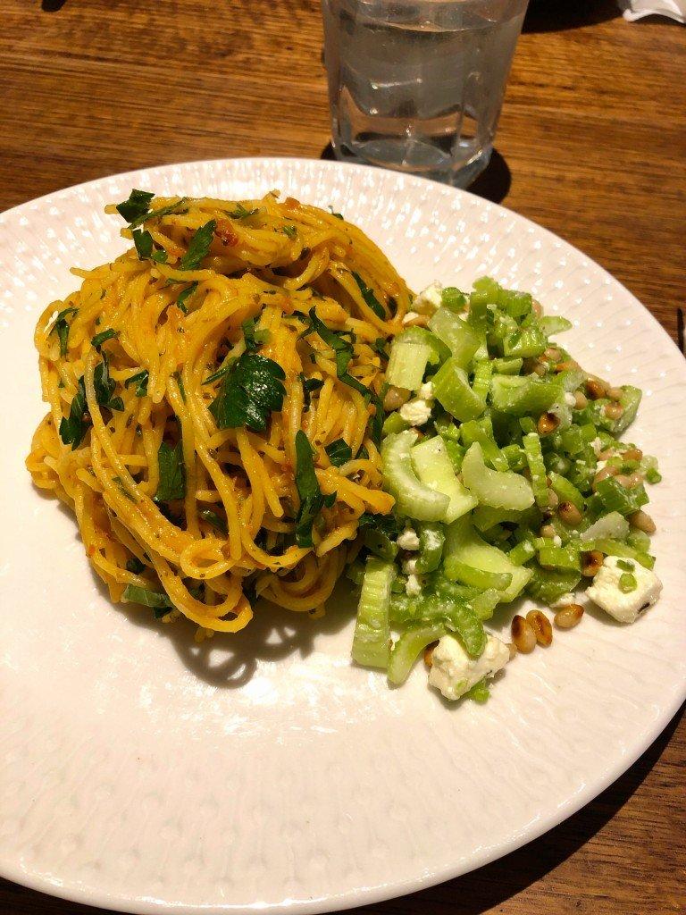Glutenfri pasta borde inte varit på menyn idag på första dietdagen.