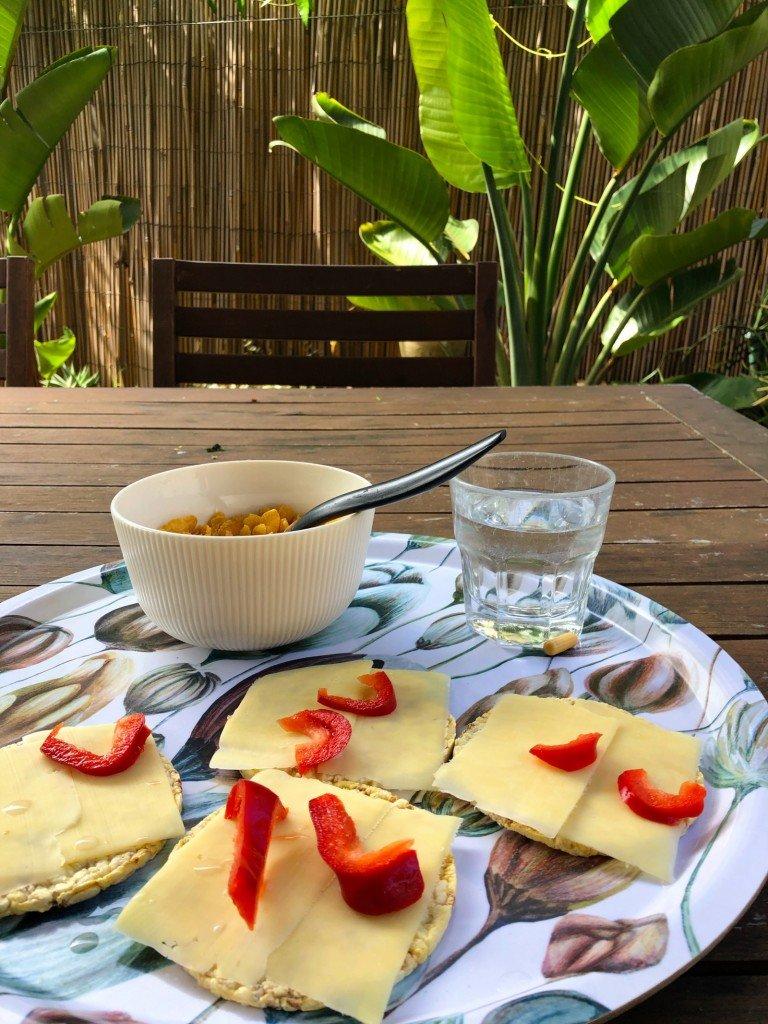 Detta skulle kunna vara min frukost, men nej, det var min lunch.