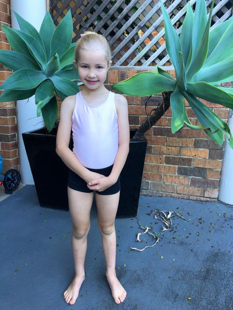 Vår lilla ballerina.