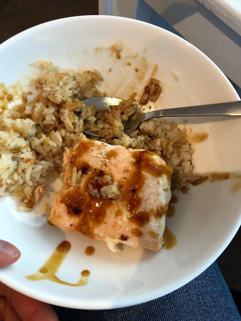 Min lunch ser inte speciellt god ut, men det kan jag berätta att den var!