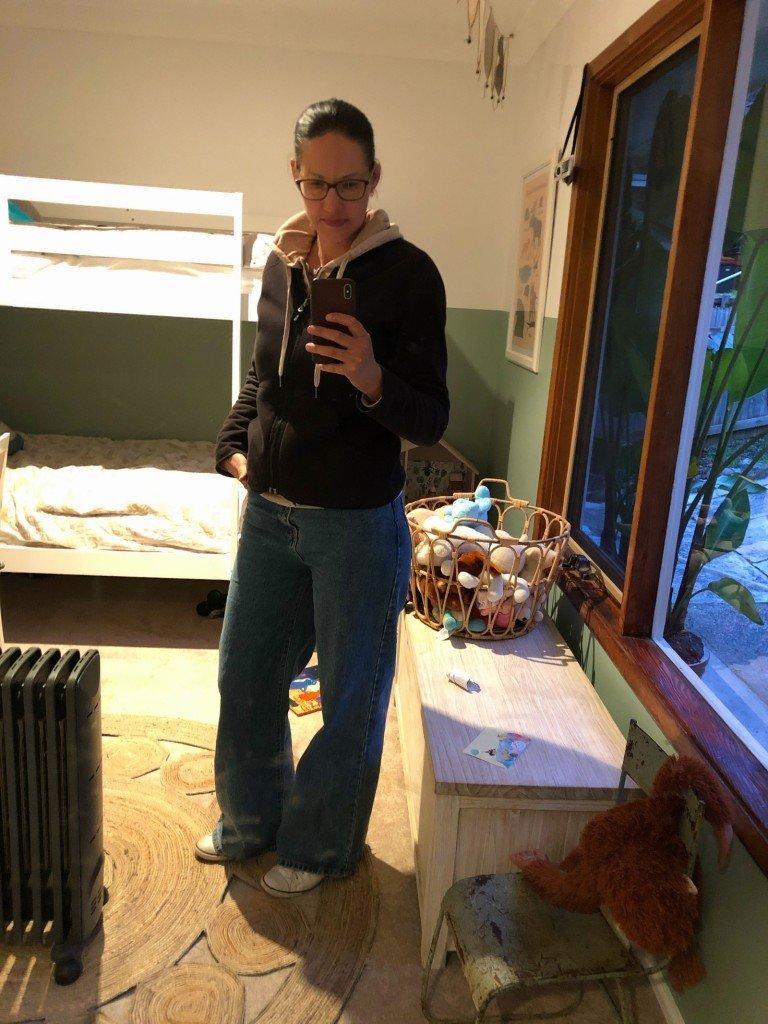 När man är i lock-down och får köpa sina byxor online. Inte helt lyckat kanske, men ändå lite ful-snygga.
