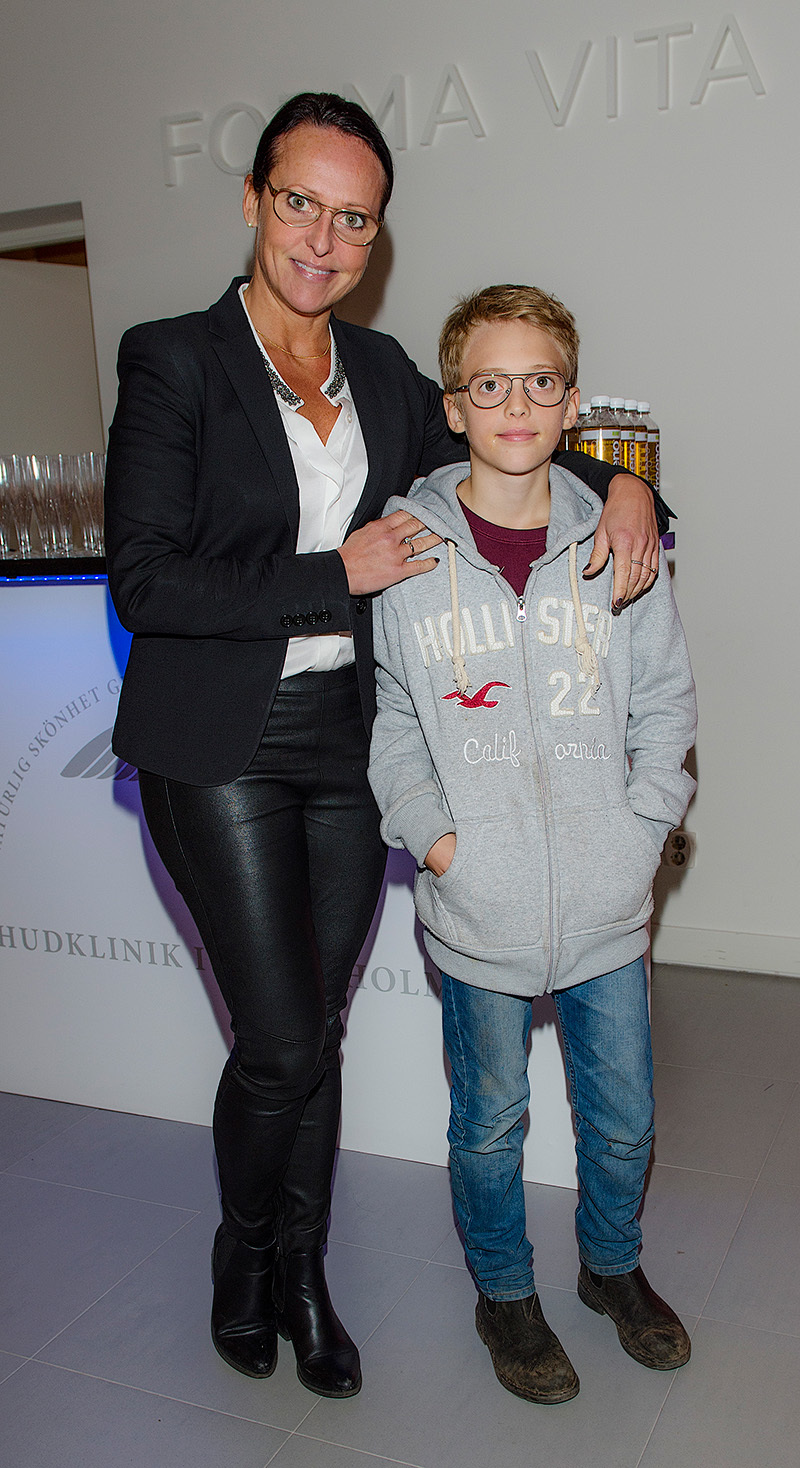 * Tanja Fylking med Figaro Invigning av Forma Vita hudklinik, Stockholm 16-11-24. Foto ©Eero Hannukainen EEROBILD AB