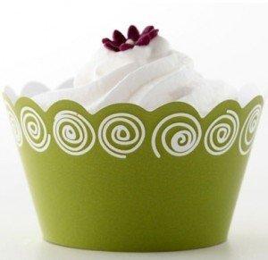 Topsy circle (lime), cupcake wraps