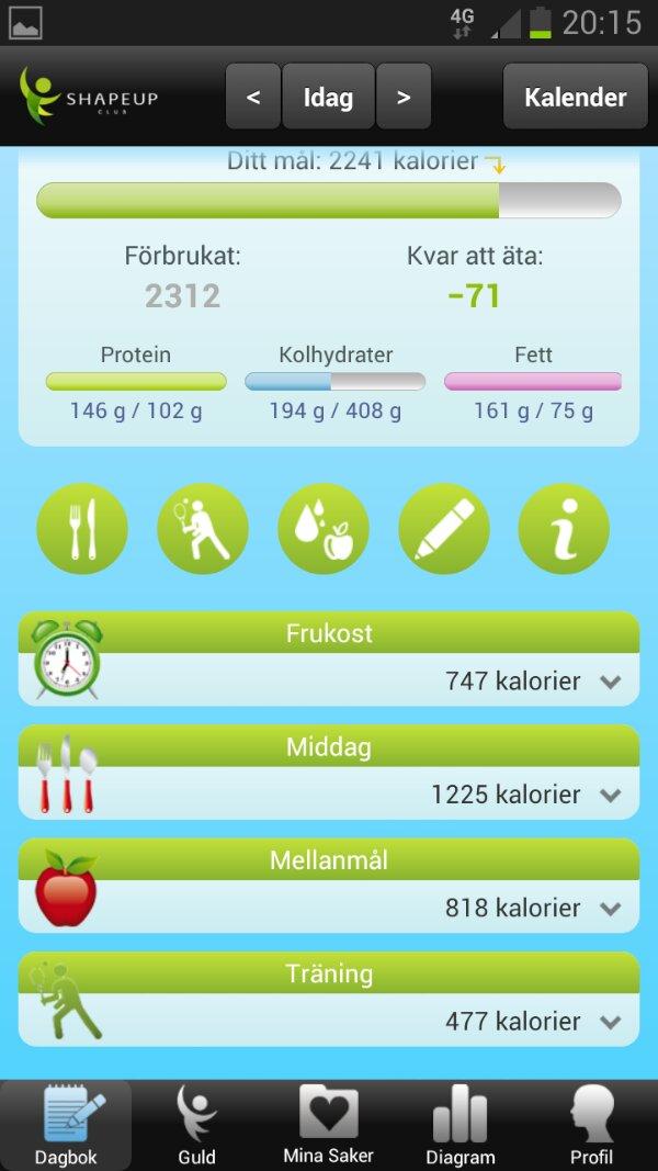 bra app för att räkna kalorier