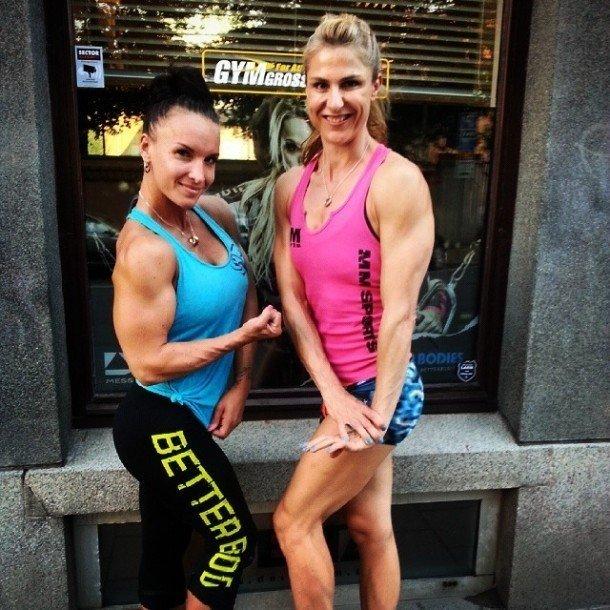 Danijela och linnea Delta gym