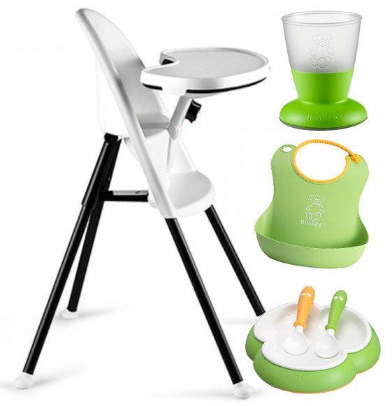 BABYBJÖRN Matstol med grönt matset - supervinst!