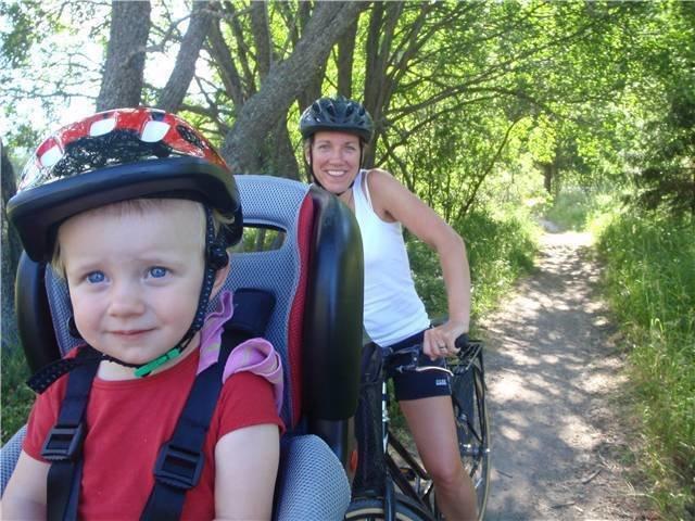 Här är vi på cykeltur förra sommaren.